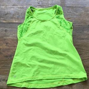 Athleta Green Gray Workout Tank Size Small